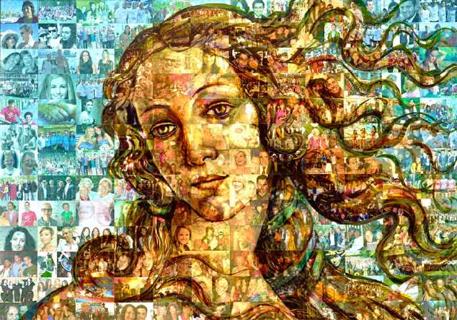 Mosaic of a Woman's Face